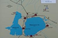 Схема озера Манасаровар
